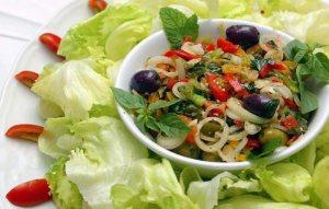 Ensalada y verduras