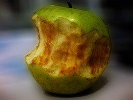 Manzana pardeada