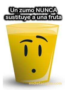 Un zumo nunca sustituye a una fruta