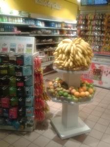 Ejemplo de oferta de fruta en el comercio Fruta Pressbyrån