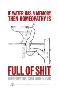 Homeopatía llena de mierda