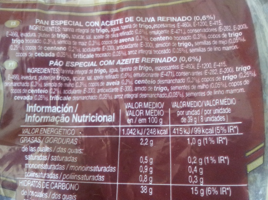 Pan thins 8 cereales
