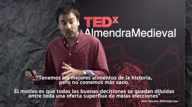 Aitor Sánchez García, en Almendra Medieval TEDx