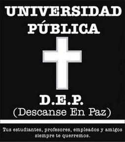 Universidad pública RIP