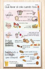 Un cuadro de almuerzos saludables para llevar alcolegio